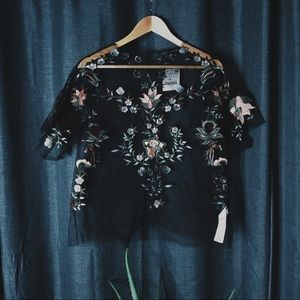 Brand New Zara Tule Top